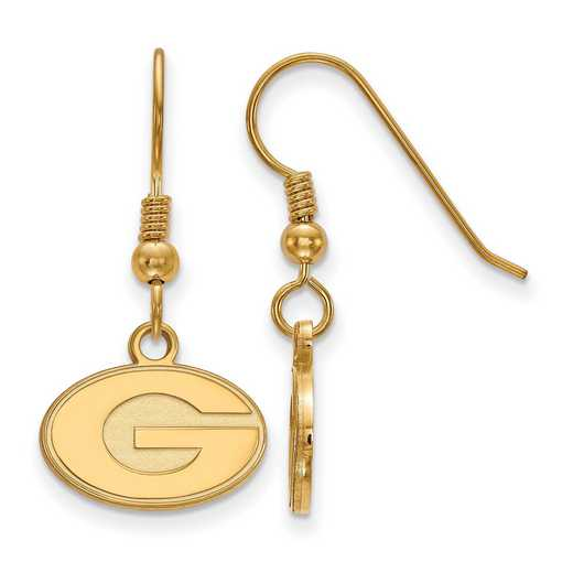 GP006UGA: SS YGFP LogoArt Georgia XS Dangle Earrings - Yellow
