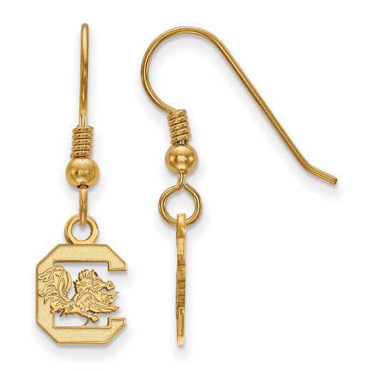 GP006USO: SS YGFP LogoArt S Carolina XS Dangle Earrings - Yellow