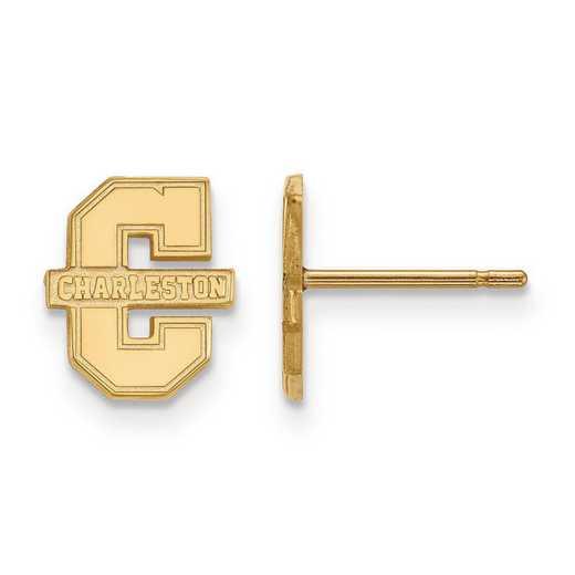 GP007CHC: SS GP LogoArt College of Charleston XS Post Earrings