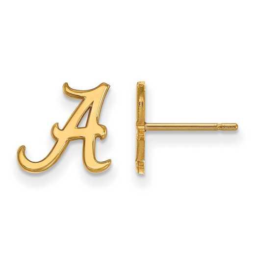 GP008UAL: 925 YGFP Alabama XS Post Earrings