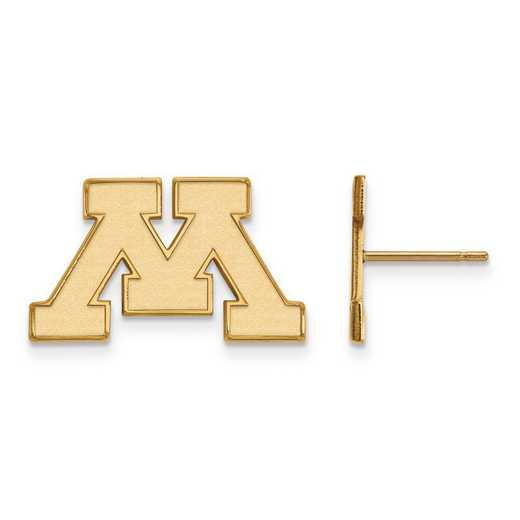 GP008UMN: SS GP LogoArt University of Minnesota Small Post Earrings