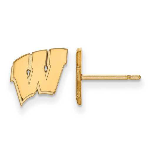 GP008UWI: 925 YGFP Wisconsin XS Post Earrings