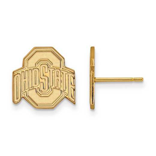 GP009OSU: SS GP LogoArt Ohio State University Small Post Earrings