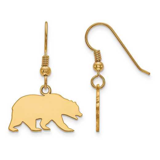 GP029UCB: SS GP LogoArt U of California Berkeley Small Dangle Earrings
