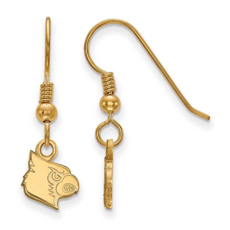 GP043UL: SS YGFP LogoArt Louisville XS Dangle Earrings - Yellow