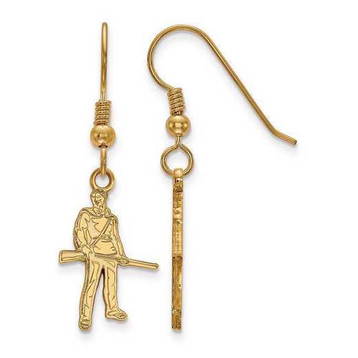 GP048WVU: SS GP LogoArt West Virginia University Small Dangle Earrings