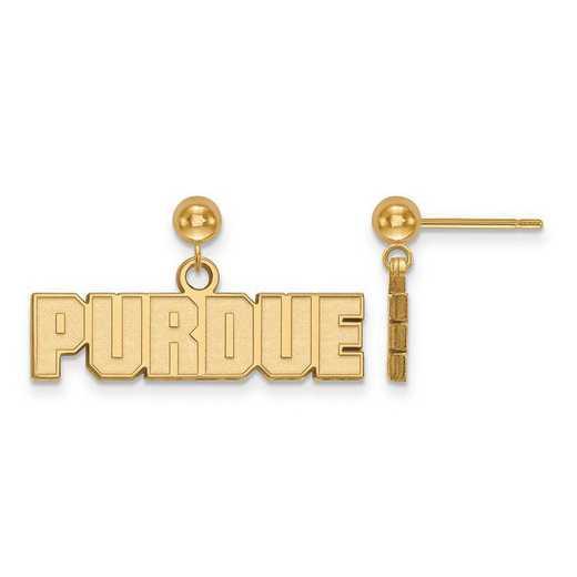GP070PU: Sterling Silver w/GP LogoArt Purdue Earrings Dangle Ball