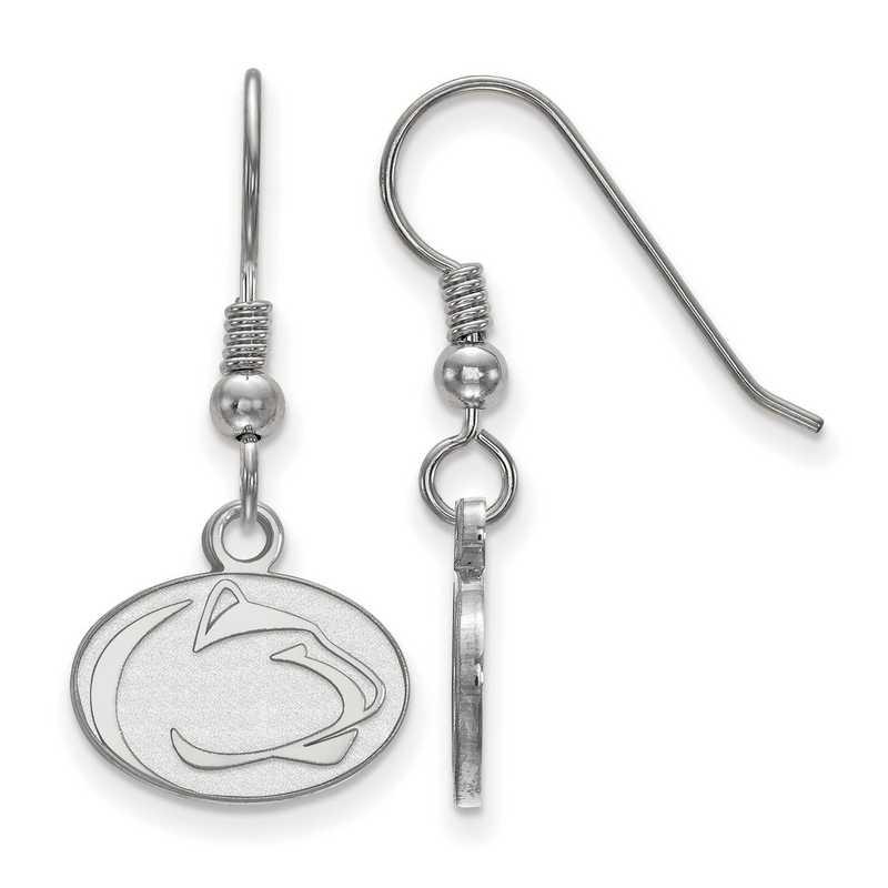 SS002PSU: SS LogoArt Penn St XS Dangle Earrings - White