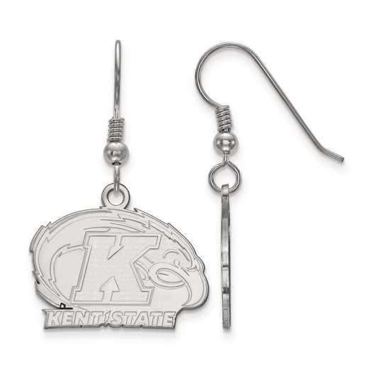 SS003KEN: SS Rh-pl LogoArt Kent State Univ Small Dangle Earr