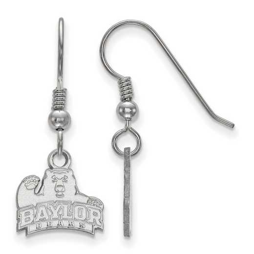 SS005BU: SS LogoArt Baylor XS Dangle Earrings - White