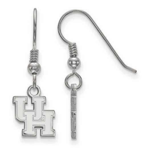 SS005UHO: SS LogoArt Houston XS Dangle Earrings - White