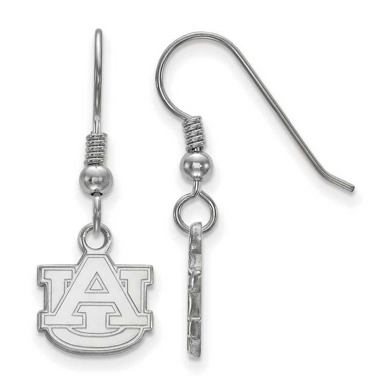 SS006AU: SS LogoArt Auburn XS Dangle Earrings - White