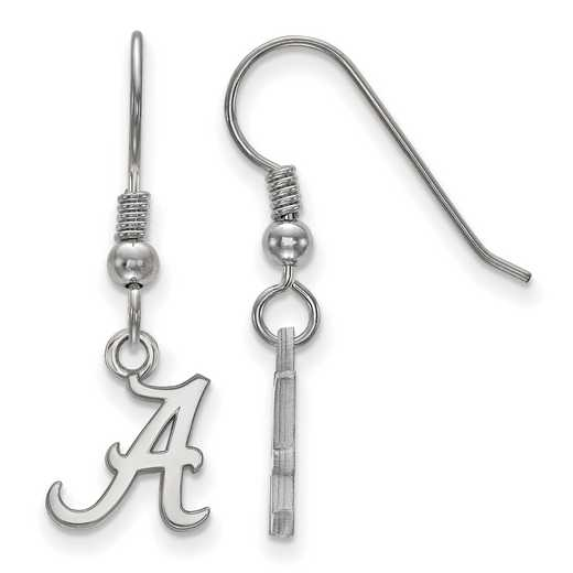 SS006UAL: SS LogoArt Alabama XS Dangle Earrings - White