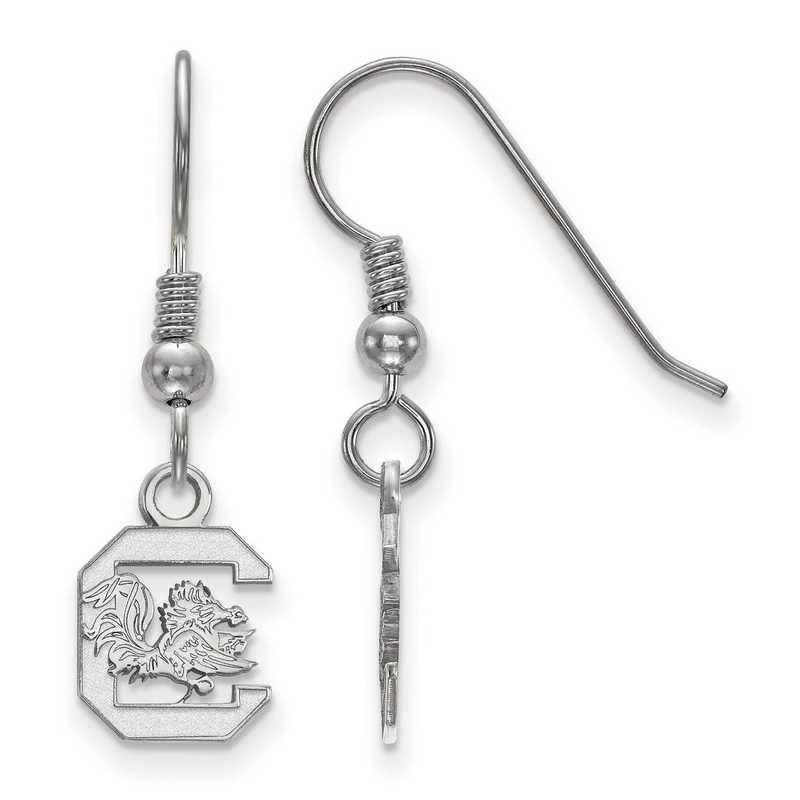 SS006USO: SS LogoArt S Carolina XS Dangle Earrings - White