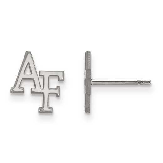SS007USA: SS Rh-pl LogoArt United States Air Force Academy XS Post Ear