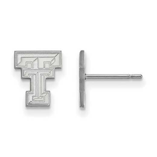 SS008TXT: 925 Texas Tech XS Post Earrings
