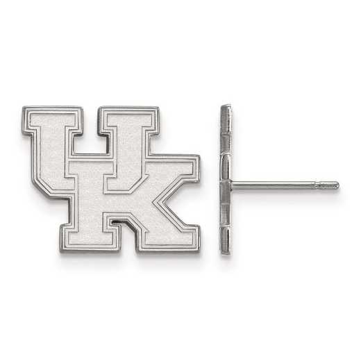 SS009UK: SS Rh-pl LogoArt Univ of Kentucky Small Post Earrings
