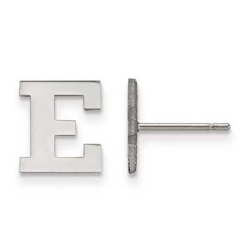 SS021EMU: SS Rh-pl LogoArt Eastern Michigan Univ XS Post Earrings
