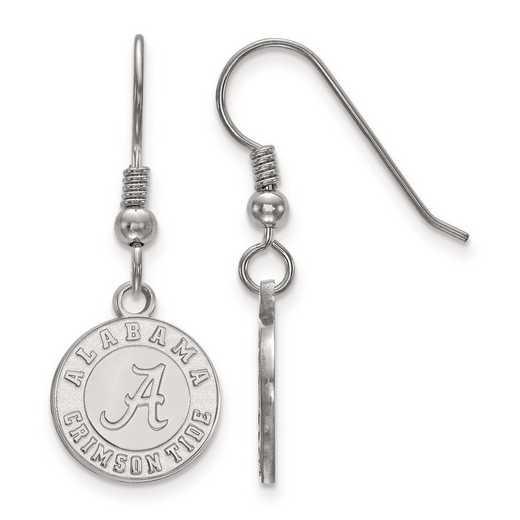 SS048UAL: SS Rh-pl LogoArt Univ of Alabama Small Dangle Earr