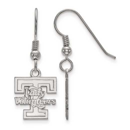 SS048UTN: SS Rh-pl LogoArt Univ of Tennessee Small Dangle Earrings