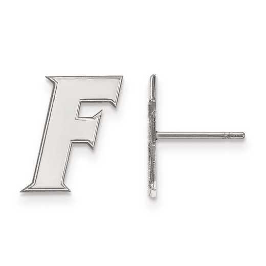 SS090UFL: SS Rh-pl LogoArt University of Florida Small Post Earrings