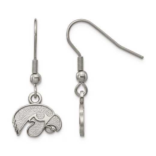 ST517UIA: Stainless Steel LogoArt University Iowa Dangle Earrings