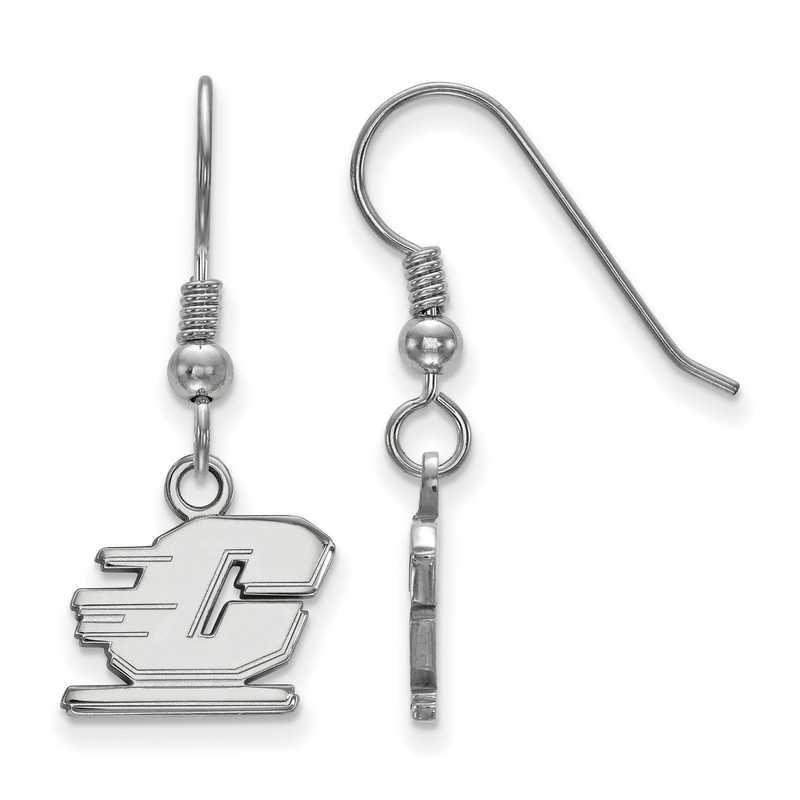SS005CMU: SS LogoArt Central Michigan Univ XS Dangle Earrings