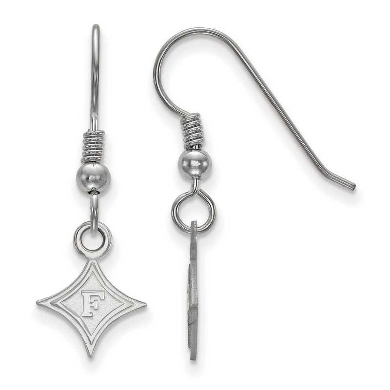 SS005FUU: SS LogoArt Furman Univ XS Dangle Earrings