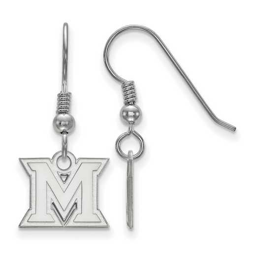 SS005MU: SS LogoArt Miami Univ XS Dangle Earrings