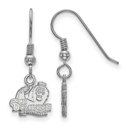 SS005ODU: SS LogoArt Old Dominion Univ XS Dangle Earrings