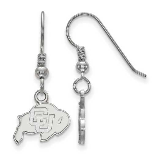 SS005UCO: SS LogoArt Univ of Colorado XS Dangle Earrings