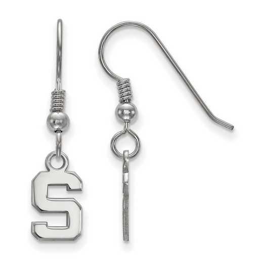 SS006MIS: SS LogoArt Michigan State Univ XS Dangle Earrings