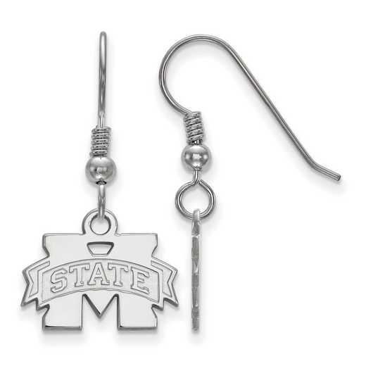 SS006MSS: SS LogoArt Mississippi State Univ XS Dangle Earrings