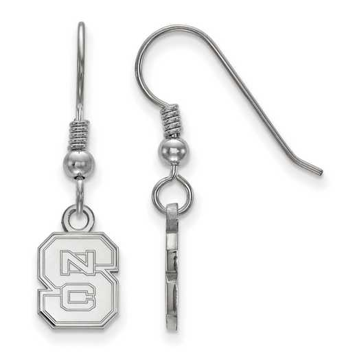 SS006NCS: SS LogoArt North Carolina State Univ XS Dangle Earrings