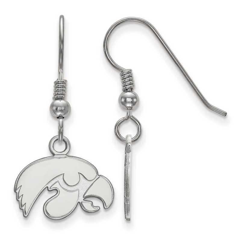SS006UIA: SS LogoArt Univ of Iowa XS Dangle Earrings
