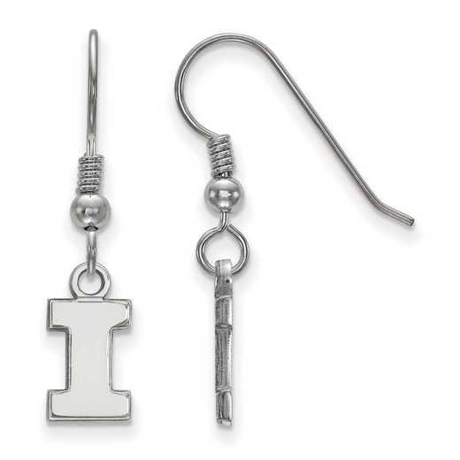 SS006UIL: SS LogoArt Univ of Illinois XS Dangle Earrings