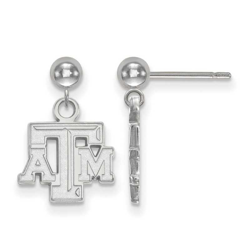 SS008TAM: SS LogoArt Texas A&M Univ Earrings Dangle Ball