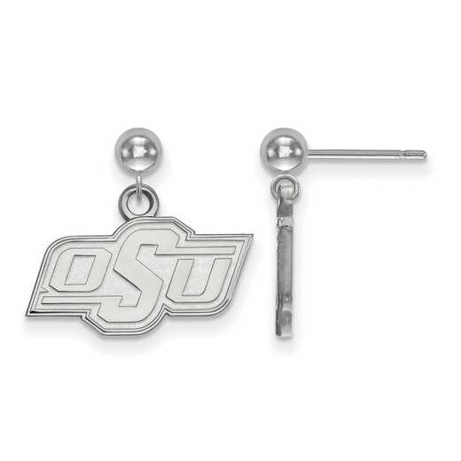 SS009OKS: SS LogoArt Oklahoma State Univ Earrings Dangle Ball