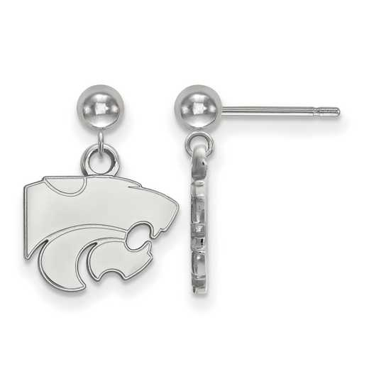 SS010KSU: SS LogoArt Kansas State Univ Earrings Dangle Ball