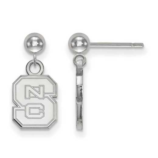 SS010NCS: SS LogoArt North Carolina State Univ Earrings Dangle Bal