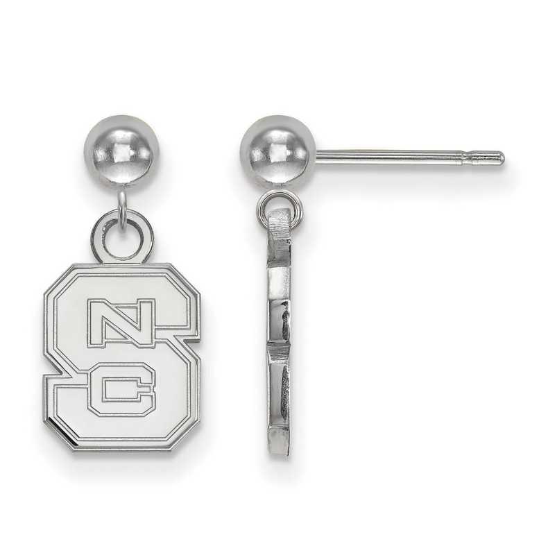 SS010NCS: SS LogoArt North Carolina State Univ Earrings Dangle Bal