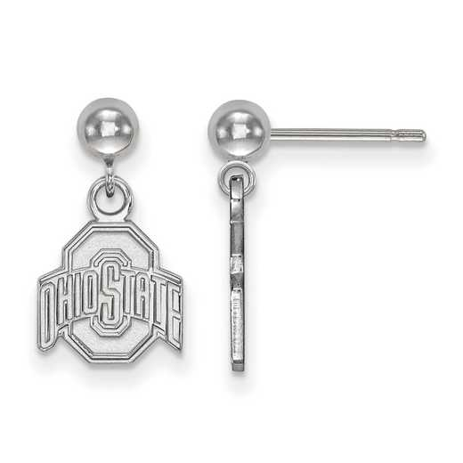 SS010OSU: SS LogoArt Ohio State Univ Earrings Dangle Ball