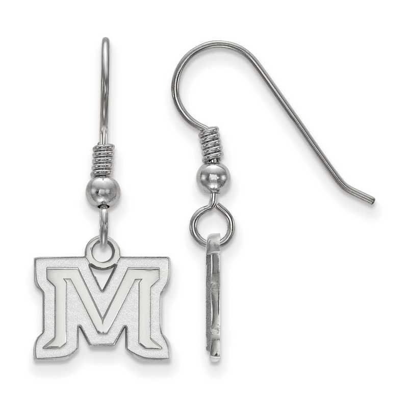 SS019MTU: SS LogoArt Montana State Univ XS Dangle Earrings