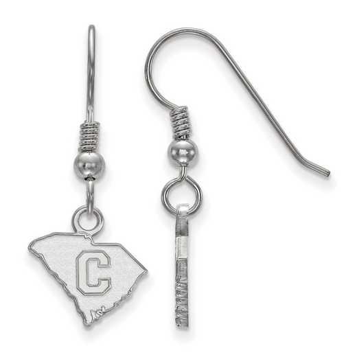 SS020TCI: SS LogoArt The Citadel XS Dangle Earrings