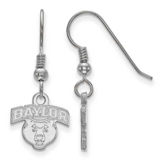 SS026BU: SS LogoArt Baylor Univ XS Dangle Earrings