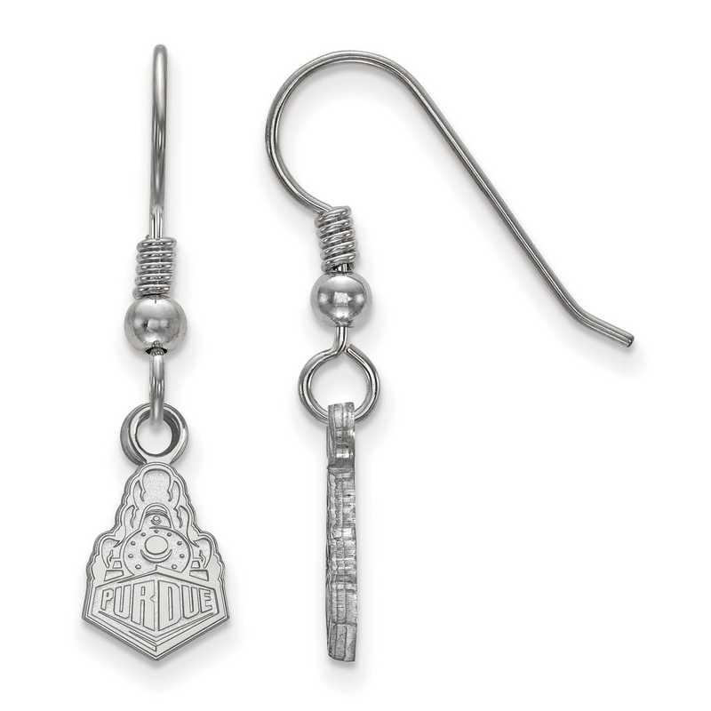 SS041PU: SS LogoArt Purdue XS Dangle Earrings