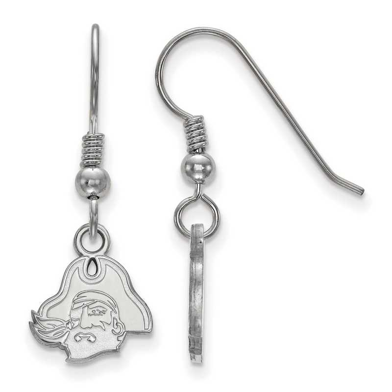 SS044ECU: SS LogoArt East Carolina Univ XS Dangle Earrings