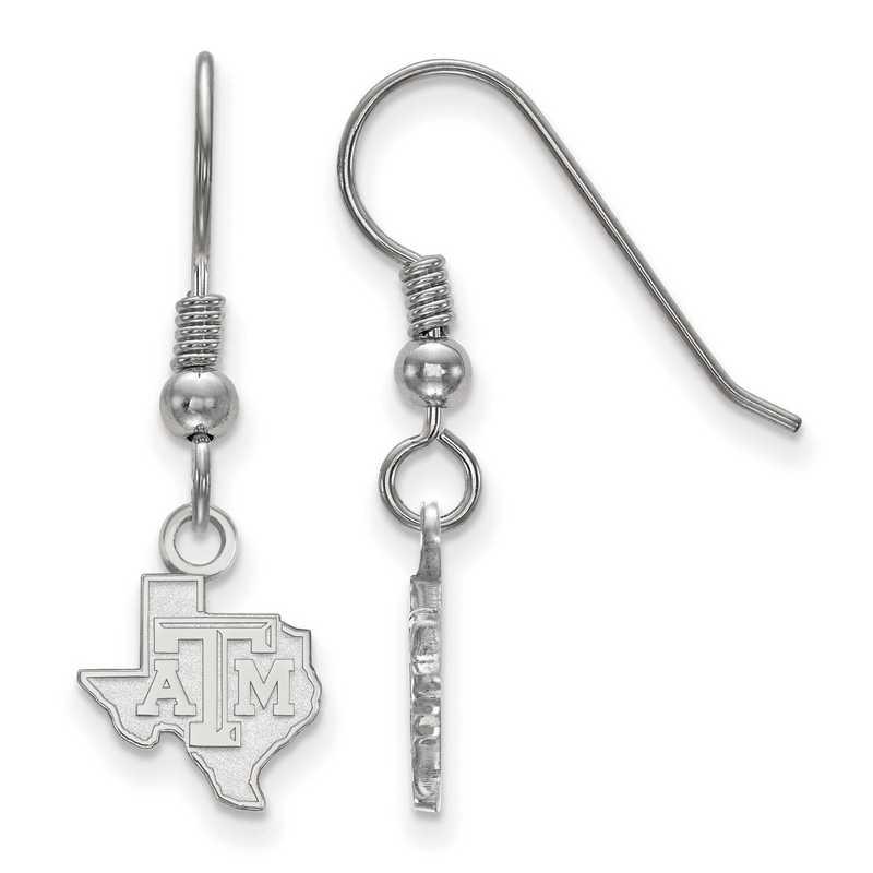SS044TAM: SS LogoArt Texas A&M Univ XS Dangle Earrings