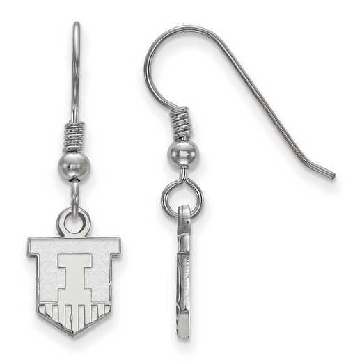 SS047UIL: SS LogoArt Univ of Illinois XS Dangle Earrings