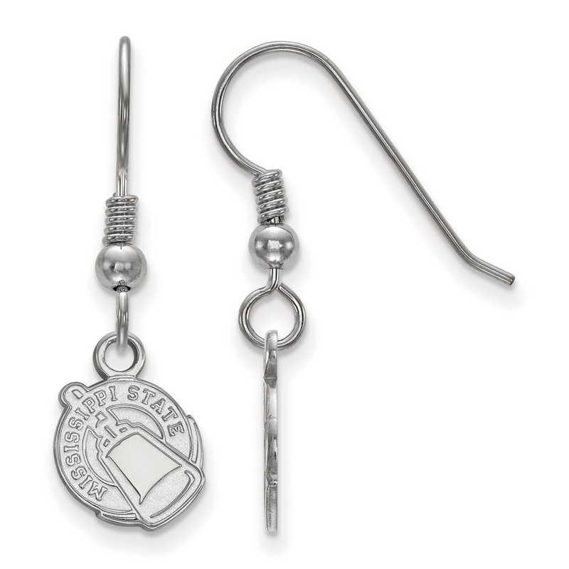 SS048MSS: SS LogoArt Mississippi State Univ XS Dangle Earrings